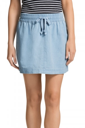 Bonds Chambray Mid Skirt Summer Blue