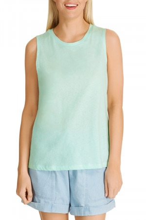 Bonds Linen Tank Mint Slice