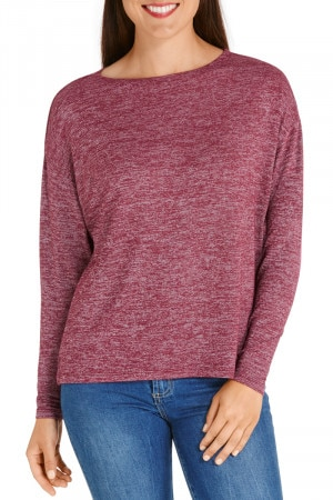 Bonds New Bounce Long Sleeve Tee Velvet Rose
