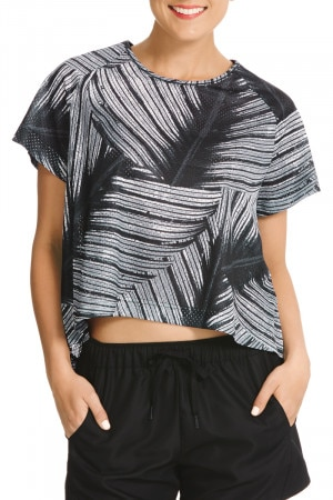 Bonds Active Mesh Tee Tropic Fern CXDMI 44N