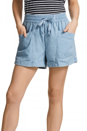 Bonds Chambray Mid Short Summer Blue