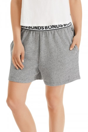 Bonds Mid Length Short New Grey Marle