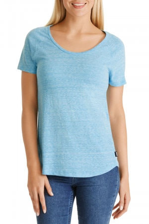 Bonds Triblend Raglan Scoop Tee Holiday Blue CXK6I JXB