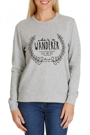 Bonds Printed Sweat Top Wrift CYAAI 59N