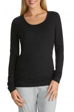 Bonds Long Sleeve Scoop Tee Black