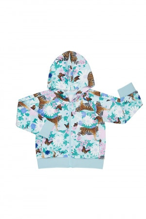 Bonds Kids Street Sweats Zip Hoodie Garden Tiger