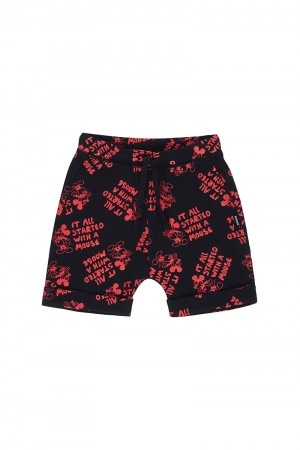 Bonds Disney Toughie Short Disneyland Mickey Outline Black