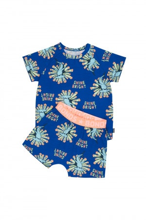 Bonds Kids Short Sleeve Pj Set Shine Bright Shark