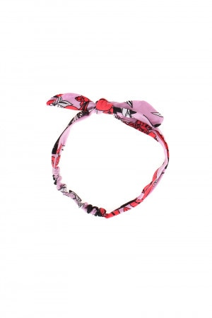 Bonds Girls Bow Headband Day Of The Dead Pink