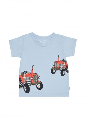 Bonds Kids Short Sleeve Crew Tee Tractor Jack