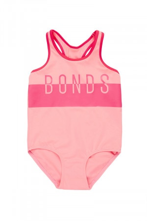 Bonds Girls One Piece Racerback Swim Lovebird