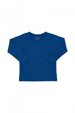 Bonds Kids Long Sleeve Aussie Cotton Crew Tee Blue My Mind