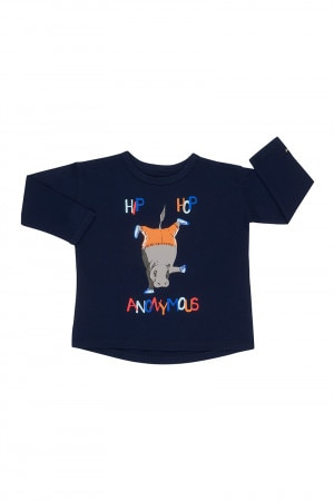 Bonds Kids Toughie Long Sleeve Tee Hip Hop Anonymous Navy