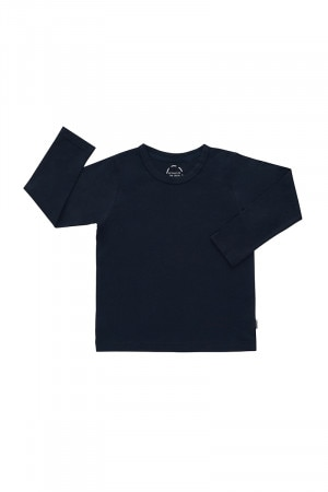 Bonds Kids Long Sleeve Aussie Cotton Crew Tee Nu Navy