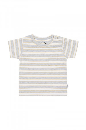 Bonds Aussie Cotton Tee Tomorrow Stripe & Turmeric Latte