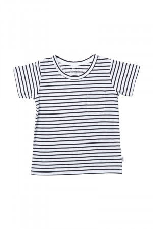Bonds Kids Aussie Cotton Tee Carbon Stripe