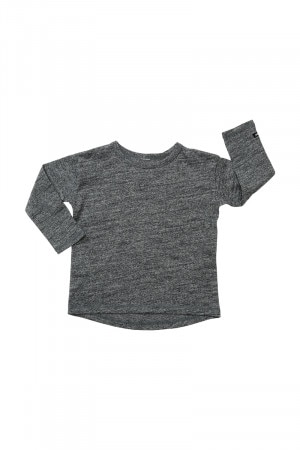 Bonds Kids Toughie Long Sleeve Tee Grey Black Marle KXLDK MZR