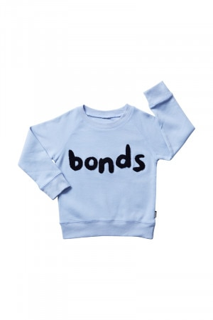 Bonds Kids Cool Sweats Pullover Crystal Waters & Deep Arctic