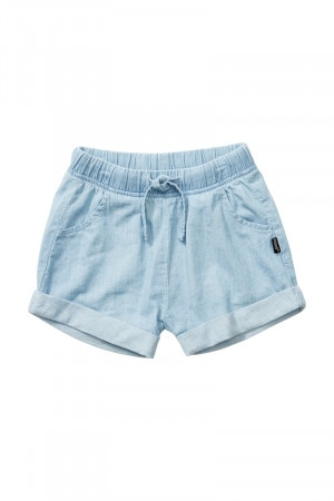 Bonds Girls Chambray Short Chambray Blue