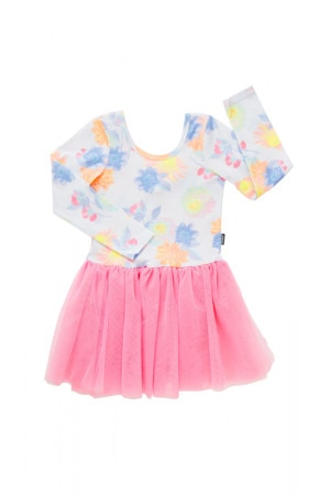 Bonds Tutu Dress Highlighter Bloom White