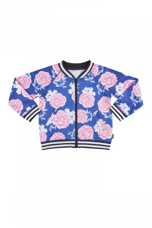 Bonds Kids Retro Ribs Bomber Jacket Carnation Nation Blue