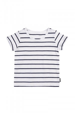 Bonds Kids Short Sleeve Stripe Tee Basic Stripe Deep Arctic KXVBK 77M