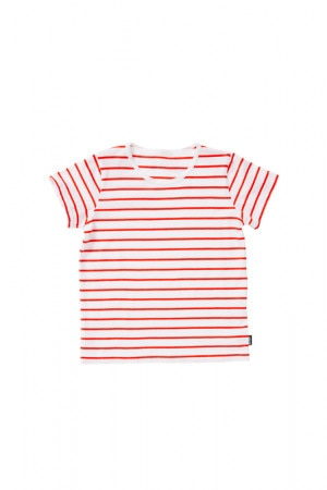 Bonds Kids Short Sleeve Stripe Tee Coastal Stripe Red KXVBK 90G