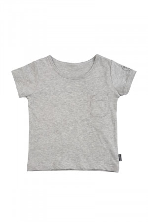 Bonds Kids Short Sleeve Plain Tee New Grey Marle