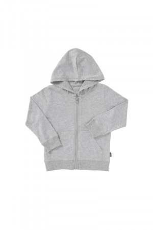 Bonds Kids Hipster Jersey Zip Hoodie New Grey Marle