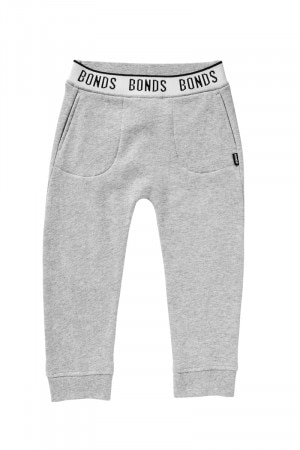 Bonds Kids Logo Signature Trackie New Grey Marle KXWFK NWY