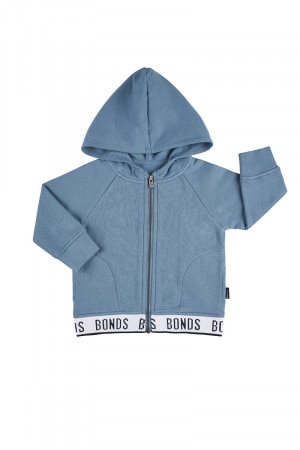 Bonds Kids Logo Signature Zip Hoodie Gemstone
