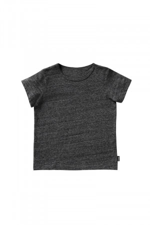 Bonds Kids Short Sleeve Plain Tee Grey Black Marle KXWWK MZR