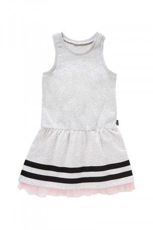 Bonds Terry Jersey Dress Grey Marle Stripe