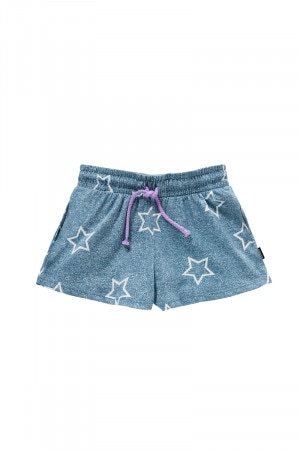 Bonds Girls Terry Short Chambray Star KXXCA ZBQ