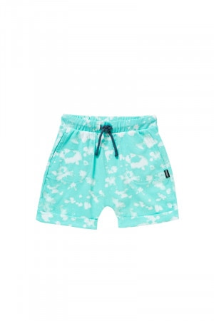 Bonds Boys Cuff Short Cosmic Spot Aqua KY48A 3AD
