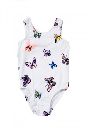 Bonds Girls Sleeveless Leotard Feeling Butterflies