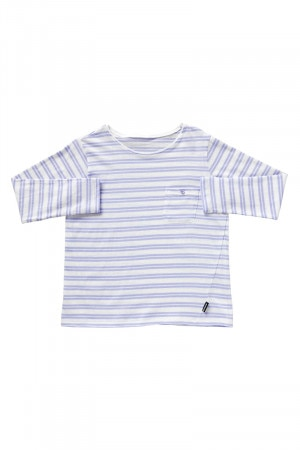 Bonds Kids Long Sleeve Pocket Tee Breton Lilac Boom KYBWA 82S