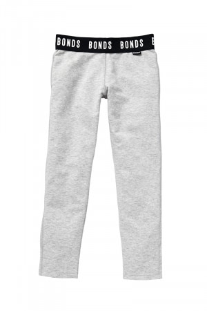 Bonds Girls Sporty Cosy Legging New Grey Marle KYCGA NWY