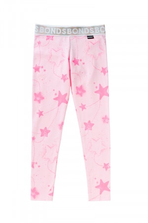 Bonds Girls Legging Starry Nights Hot Pink