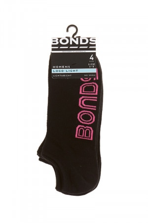 Bonds Womens Christmas Logo Light No Show Socks 4 Pack Pack 02