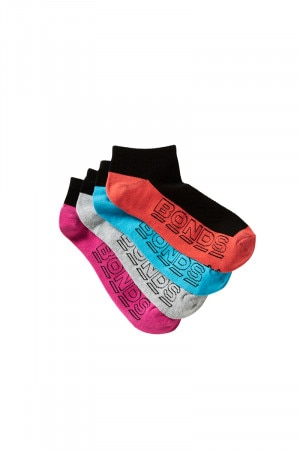Bonds Womens Logo Lite Low Cut Sport Socks 4 Pack Pack 09 LYQC4N 09K