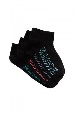 Bonds Womens Logo Lite Low Cut Sport Socks 4 Pack Pack 11