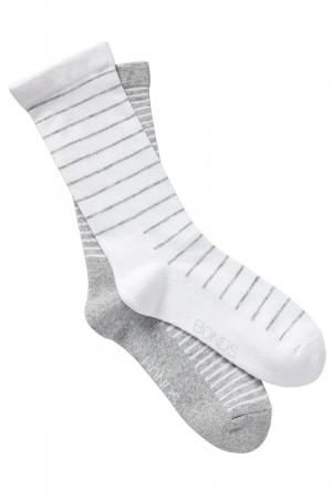 Bonds Womens Very Comfy Fine Sock 2 Pack New Grey Marle LYXQ2N NWY