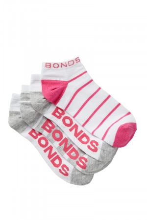 Bonds Womens Fashion Trainer 4PK Pack 02 LYY44N 02K