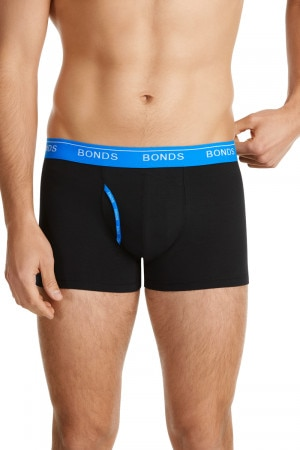 Bonds Guyfront Trunk Fluro Black & Banno Blue M336O SN7