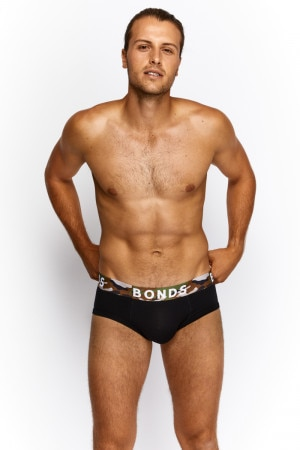 Bonds Fit Brief Black/Desert Storm