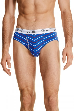 Bonds Guyfront Brief Blue Springs & Trafalgar Stripe