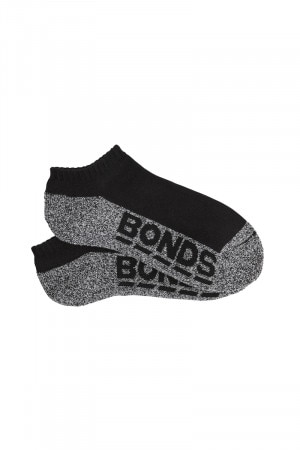 Bonds Kids Logo Low Cut Sport 3pk Black