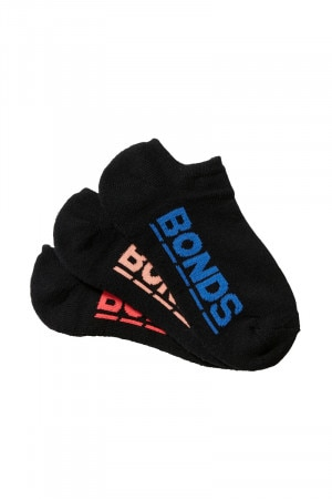 Bonds Kids Logo No Show Sport Socks 3 Pack Pack 20