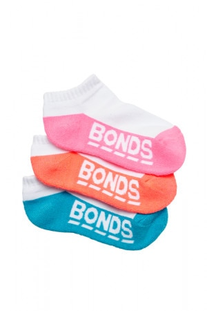 Bonds Kids Logo Low Cut 3 Pack Pack 33 RYKK3N 33K
